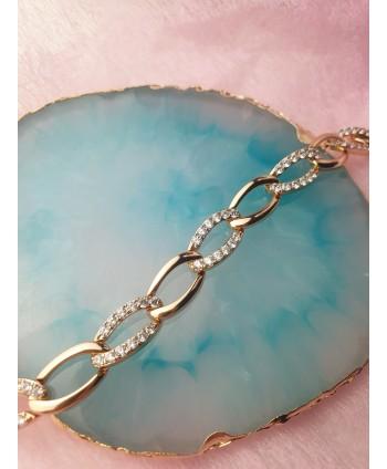 Opaska perełkowa z kryształkami