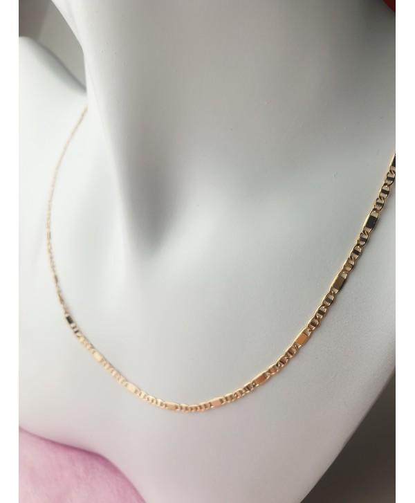 Łańcuszek stal złocona 50 cm