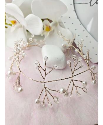 Kolczyki - biały chanel - długość 10cm
