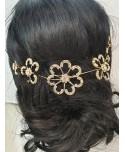 Ozdoba do włosów złota duże kwiaty
