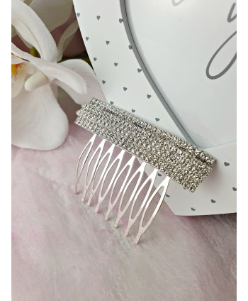 Grzebień ozdobny srebrny