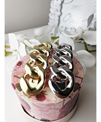 Spinka automatyczna łańcuch złota i srebrna