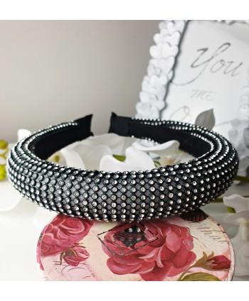 Kolczyki - czarny chanel - długość 7 cm