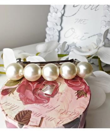 Spinka automatyczna z perłami