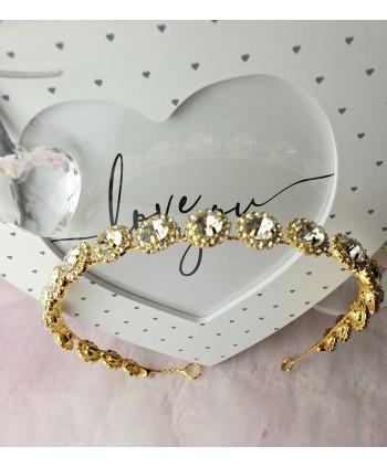 Ozdoba do włosów z dżecikami i kryształkami