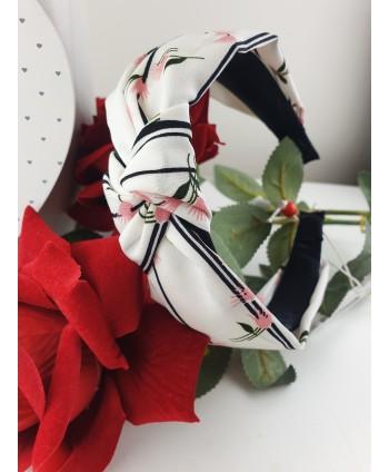 Opaska z węzełkiem w kwiatki