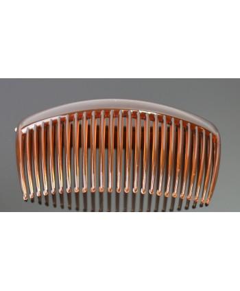 Kolczyki - bursztynowy chanel - długość 4,8 cm
