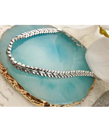 Kolczyki - biały chanel - długość 9,2 cm