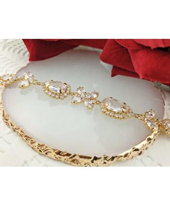 Bransoletka złota bogato zdobiona