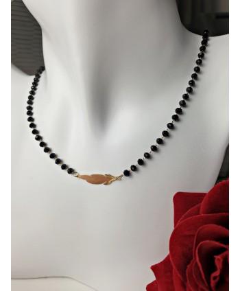 Kolczyki- ciemnofioletowy chanel- 7 cm