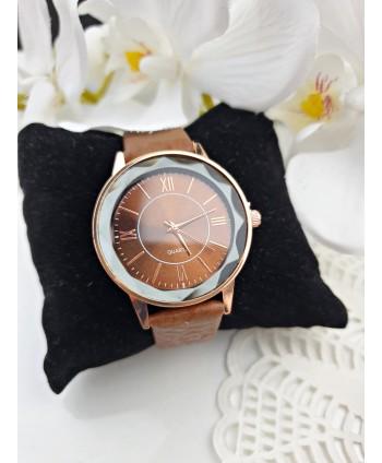 Zegarek damski brązowy pasek