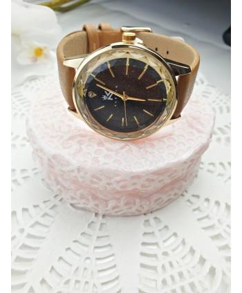 Zegarek damski z brokatową tarczą