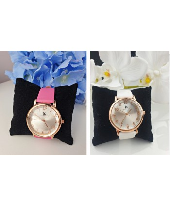 Zegarek w różowym złocie z wypukłą tarczą