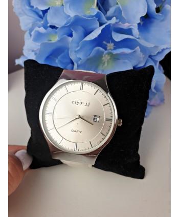 Zegarek damski biały ze srebrem