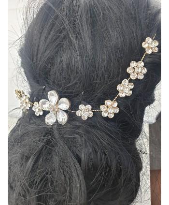 Ozdoba do włosów złota kwiatuszki