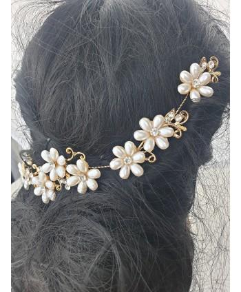 Ozdoba do włosów perłowe kwiatuszki