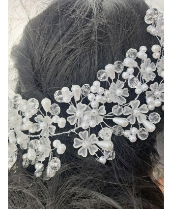 Ozdoba do włosów kwiatuszki z perełkami