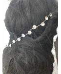 Ozdoba do włosów srebrna kryształki