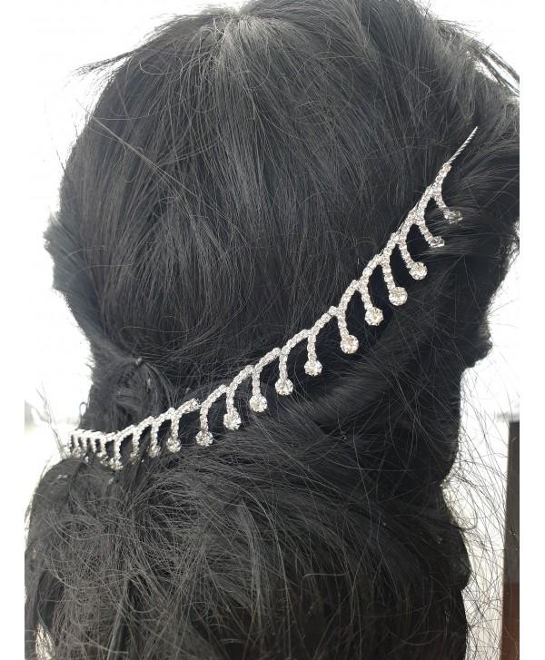 Ozdoba do włosów srebrna dżety