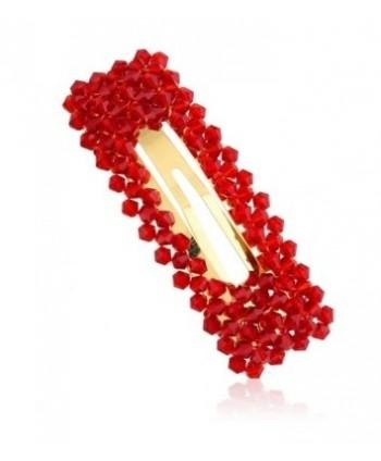 Spinka prostokątna z czerwonymi kryształkami