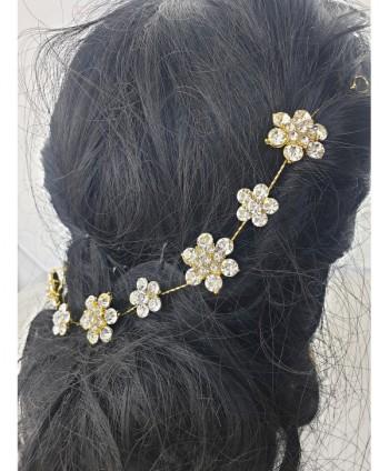 Ozdoba do włosów złota kwiatki