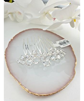 Grzebień ozdobny do włosów z kryształkami
