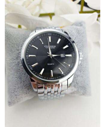 Zegarek męski na srebrnej bransolecie