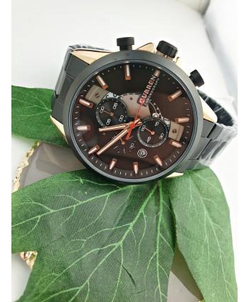 Zegarek męski na czarnej bransolecie
