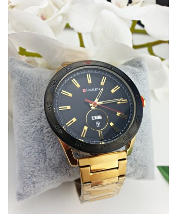 Zegarek męski na złotej bransolecie