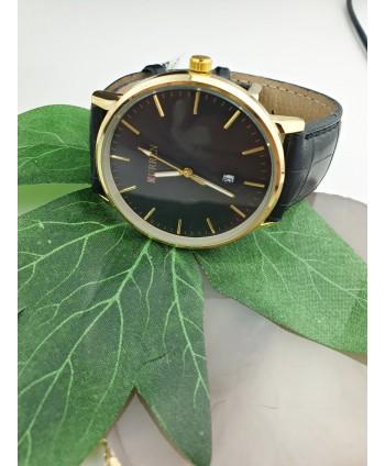 Zegarek męski czarny ze złotem