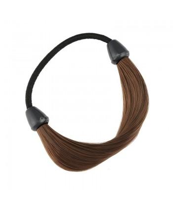Czarna gumka ze sztucznego włosa