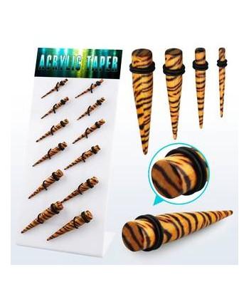 Rozpychacz taper tygrysi print - rozmiar do  wyboru piercing