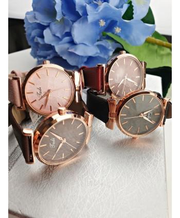 Zegarek damski z listeczkami - kolor do wyboru