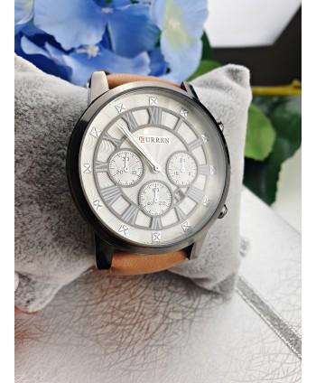 Zegarek męski pasek w odcieniu brązu