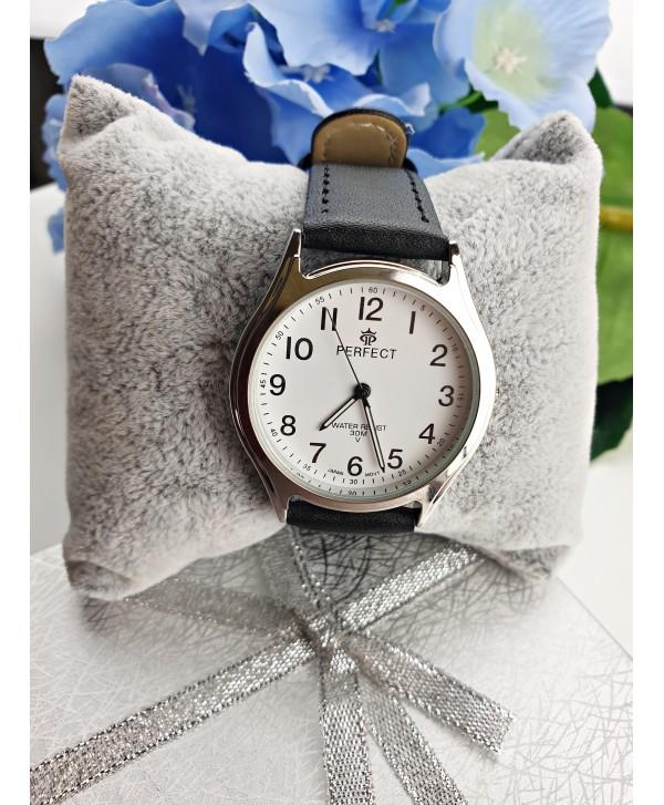 Zegarek klasyczny czarny ze srebrem