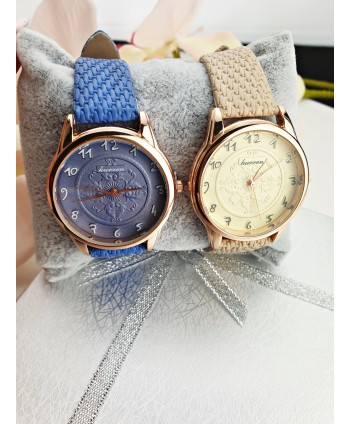 Zegarek damski z grawerowaną tarczą- kolory do wyboru