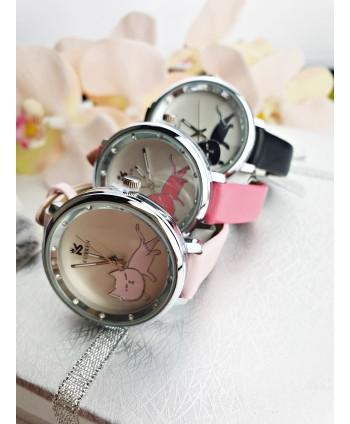 Zegarek damski z kotkiem- kolory do wyboru