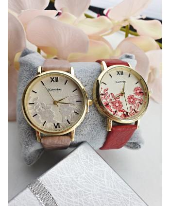 Zegarek damski z kwiatowym wzorem- kolory do wyboru