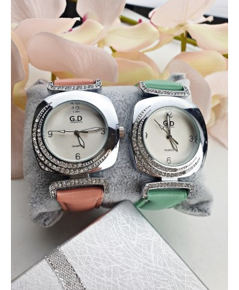 Zegarek damski z dodatkiem cyrkonii- kolory do wyboru
