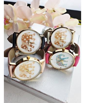 Zegarek damski ze słonikiem- kolory do wyboru