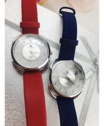 Zegarek damski z błyszczącymi cyrkoniami- kolory do wyboru