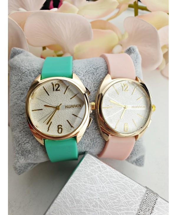 Zegarek ze strukturalna tarczą- kolory do wyboru