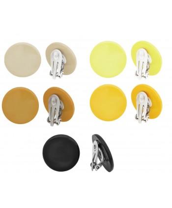 Klipsy plastikowe kolorowe