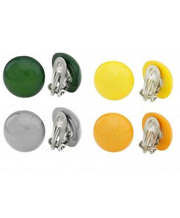 Klipsy plastikowe okrągłe wypukłe kolorowe