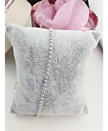 Naszyjnik z wiśniowych perełek stopniowany